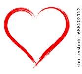 vector heart shape frame with... | Shutterstock .eps vector #688502152