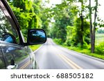 rear view mirror of gray color...