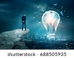 back view of young businessman...   Shutterstock . vector #688505935