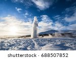 geysir or sometimes known as... | Shutterstock . vector #688507852