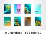a4 brochure cover mininal...   Shutterstock .eps vector #688508482
