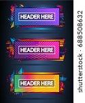 futuristic header frame design... | Shutterstock .eps vector #688508632
