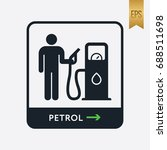 petrol icon. flat isolated... | Shutterstock .eps vector #688511698