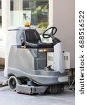 empty automatic scrubber...   Shutterstock . vector #688516522