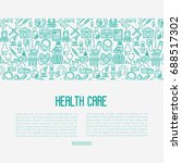health care concept with thin... | Shutterstock .eps vector #688517302