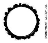 vector grunge ink  paint frame...   Shutterstock .eps vector #688524256