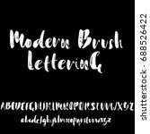 hand drawn dry brush font.... | Shutterstock .eps vector #688526422