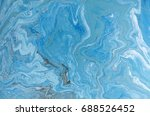 marbled blue and golden... | Shutterstock . vector #688526452