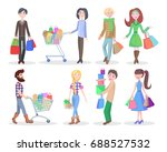shopping people illustrations... | Shutterstock . vector #688527532