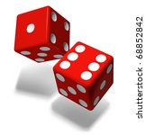 casino red cubes | Shutterstock . vector #68852842