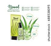 aloe vera skin care ads on... | Shutterstock .eps vector #688538095