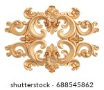 gold ornament on a white... | Shutterstock . vector #688545862