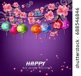 happy mid autumn festival | Shutterstock .eps vector #688546846
