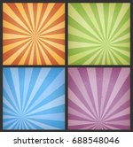 abstract sunbeams backgrounds... | Shutterstock .eps vector #688548046