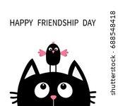 happy friendship day. cute... | Shutterstock . vector #688548418