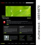 vector web site is black with...   Shutterstock .eps vector #68854870