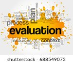 evaluation word cloud collage ... | Shutterstock . vector #688549072