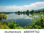mi o or minho river  natural... | Shutterstock . vector #688549762
