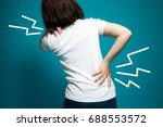low back pain  strained back ... | Shutterstock . vector #688553572