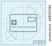 vector blueprint credit card... | Shutterstock .eps vector #688554382