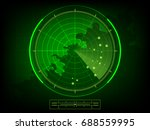 vector radar scan display | Shutterstock .eps vector #688559995