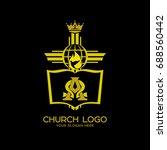 church logo. christian symbols. ... | Shutterstock .eps vector #688560442