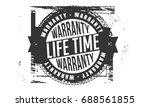 life time warranty vintage... | Shutterstock .eps vector #688561855