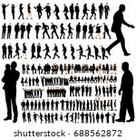 vector  isolated  set of people ... | Shutterstock .eps vector #688562872