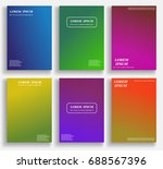 colorful abstract pattern... | Shutterstock .eps vector #688567396
