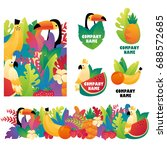 tropical brand | Shutterstock .eps vector #688572685