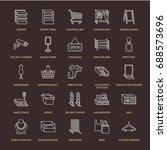 retail store supplies line... | Shutterstock .eps vector #688573696
