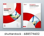 brochure template layout design.... | Shutterstock .eps vector #688574602