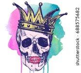 king of death. portrait of a... | Shutterstock . vector #688575682