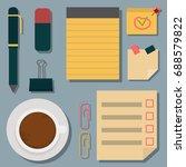 vector notebook agenda business ... | Shutterstock .eps vector #688579822