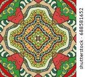 decorative hand drawn seamless...   Shutterstock .eps vector #688581652