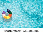 colorful pool float  ring... | Shutterstock . vector #688588606