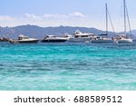 sailing ships and luxury yacht... | Shutterstock . vector #688589512