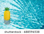 pool float  ring floating in a... | Shutterstock . vector #688596538