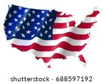 united states of america map... | Shutterstock .eps vector #688597192