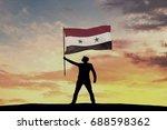 male silhouette figure waving...   Shutterstock . vector #688598362