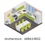modern isometric luxury house... | Shutterstock .eps vector #688614832