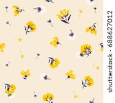 spread beautiful blooming... | Shutterstock .eps vector #688627012