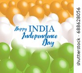 indian independence day concept ... | Shutterstock .eps vector #688628056