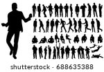 silhouette of men business ... | Shutterstock .eps vector #688635388