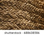 Texture Of A Wicker Basket....
