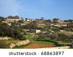 field at typical malta farmland.... | Shutterstock . vector #68863897