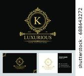 luxury logo template in vector... | Shutterstock .eps vector #688643272