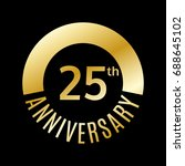 25 year anniversary icon. 25th... | Shutterstock .eps vector #688645102