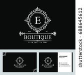 luxury logo template in vector... | Shutterstock .eps vector #688645612