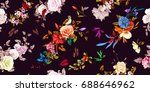 wide seamless background... | Shutterstock .eps vector #688646962